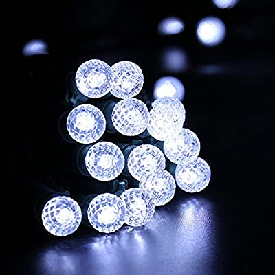 Brizled Faceted G10 LED String Lights, 50 LED 18.6ft LED Christmas Lights, 120V UL Certified, for Indoor and Outdoor Decoration, Patios, and Christmas Tree