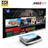 4K Projector, Android TV Enhanced JmGO U1 Home Theater Projector Ultra Short Focus Native 4K UHD 3D Laser Smart TV Built-in Hi-Fi Bluetooth Speaker
