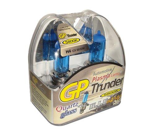 GP Thunder H4 9003 55W Super-White with Quartz Glass Bulbs for High- Low Beam- Head Lamp - Fog Light SGP58K-H4