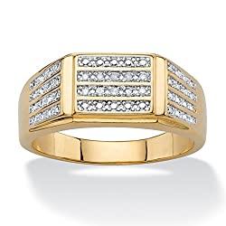 Yellow Gold Plated Genuine Multi Diamond Ring