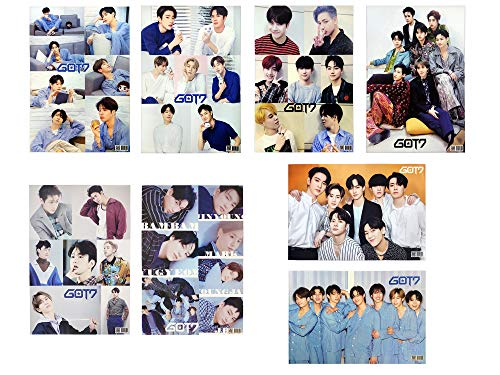 Fanstown Kpop GOT7 Poster Set 16.5 x 11.7 inch A3 Size Thicken Coated Paper 8 pcs (A01)