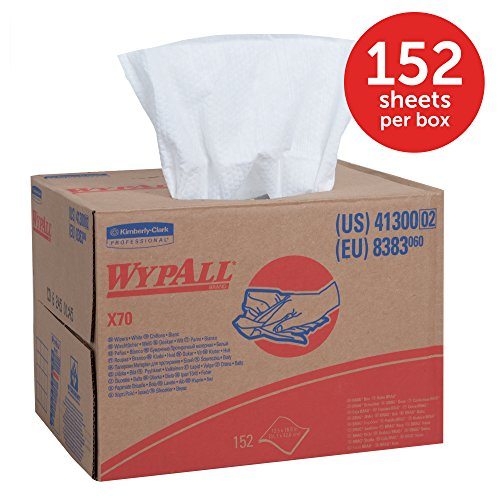 WypAll X70 Extended Use Reusable Cloths (41300), Brag Box, Long Lasting Performance, White, 1 Box, 152 Sheets by Kimberly-Clark Professional (Image #3)