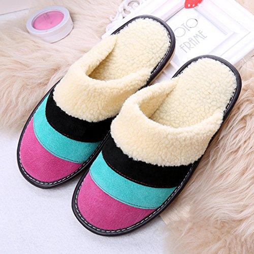 Mujer Zapatillas Interior De Tamaño Estilo Mhgao Para 1 Lana Color Pequeño Casual Unidad Cálido qUIx40n