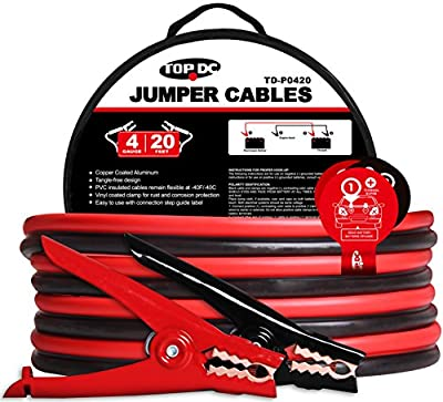 TOPDC Battery Jumper Cables in Carry Bag