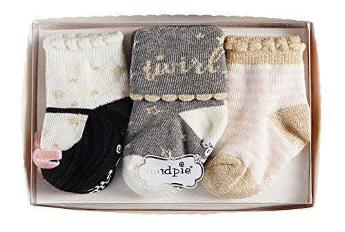 Mud Pie 3 Piece Dream in Glitter Sock Gift Set