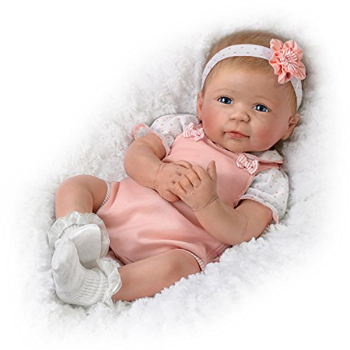 Ava TrueTouch Silicone with Hand-Rooted Hair - Award-Winning Lifelike, Realistic Newborn Baby Doll 18-inches by The Ashton-Drake (Ashton Drake Newborn Doll)