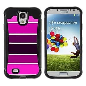 Fuerte Suave TPU GEL Caso Carcasa de Protección Funda para Samsung Galaxy S4 I9500 / Business Style Sample Pink Purple Tones Fuchsia