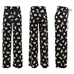 Buttery Soft Pajama Pants for Women – Floral Print Drawstring Casual Palazzo Lounge Pants Wide Leg for All Seasons 8