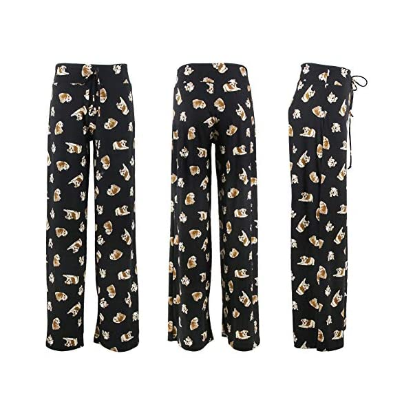 Buttery Soft Pajama Pants for Women – Floral Print Drawstring Casual Palazzo Lounge Pants Wide Leg for All Seasons 2