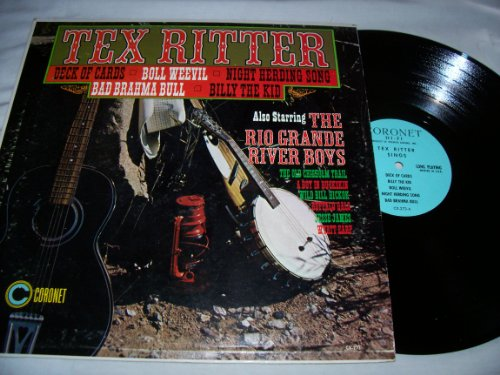 Tex Ritter & The Rio Grande River Boys Mint / NM Stereo Lp - Tex Ritter Also Starring The Rio Grande River Boys - Coronet Records Mid 1960s