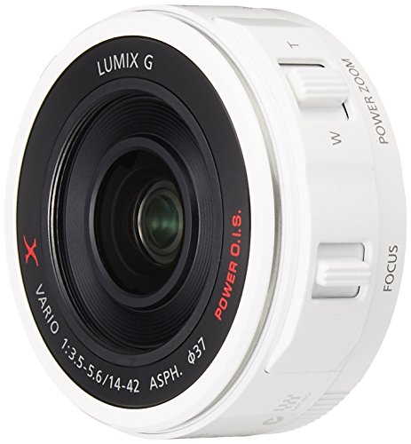 Panasonic digital camera option Micro Four Thirds System interchangeable lenses for X lens motorized zoom LUMIX GX VARIO PZ 14-42mm / F3.5-5.6 ASPH. / POWER OIS White H-PS14042-W by Panasonic