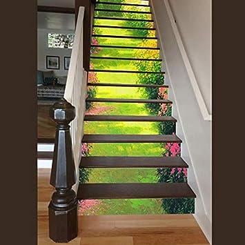 Vinilos Escaleras Kindergarten Decoración De Los Niños 3D 13 Unids/Set Corredor Autoadhesivo Pegatinas De Pared Escalera Pasos Pegatinas Impermeable Casa Pegatinas De Escalera: Amazon.es: Bricolaje y herramientas