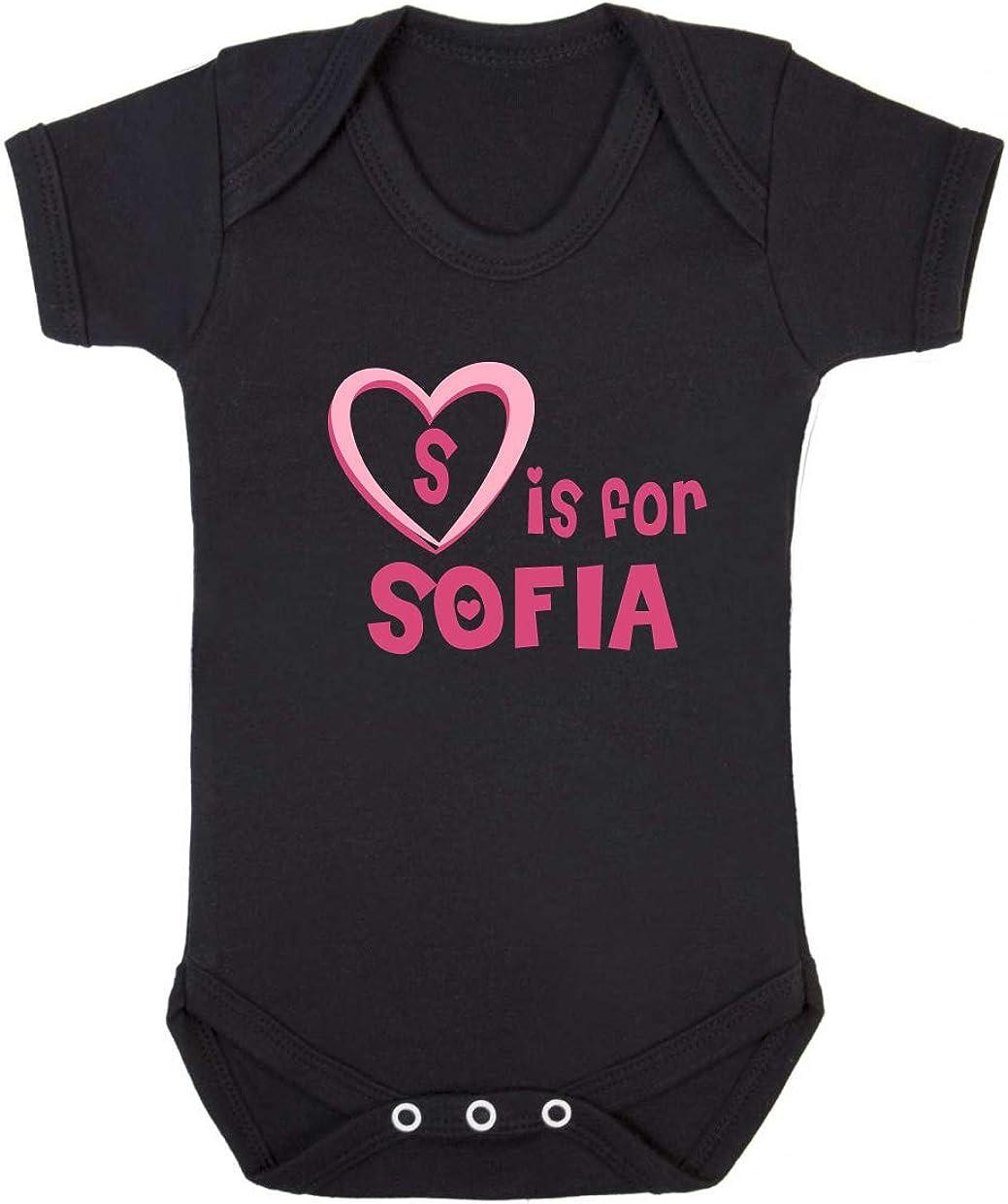 S is for Sofia Baby Vest Sofia Newborn Baby Vest Sofia Baby Gift