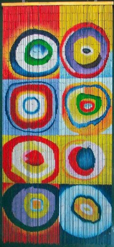 (Squares & Rings - Kandinsky Beaded Curtain 125 Strands (+hanging hardware))