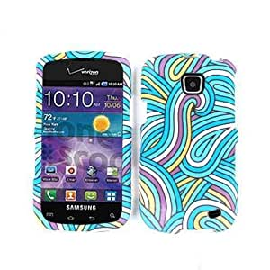 SMOOTH FINISH COVER FOR SAMSUNG ILLUSION CASE FACEPLATE HARD PLASTIC WAVES TE556 I110 CELL PHONE ACCESSORY