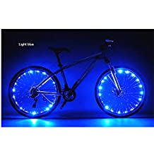Aenmil® Waterproof 20 LEDs Bike Bicycle Wheel Light 2 Mode Flash LED Bicycle Bike Cycling Steel Wire Wheels Light Safety Light Spoke Light Lamp Powered by 3 AAA Batteries(Not Included)