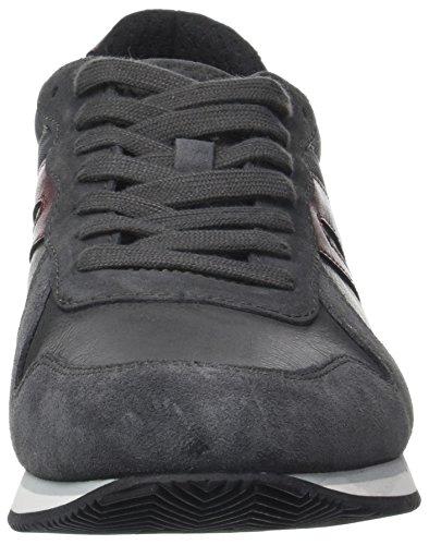 Homme Sneakers Geox anthracite U Basses wine C Vinto Gris wqtvtX4