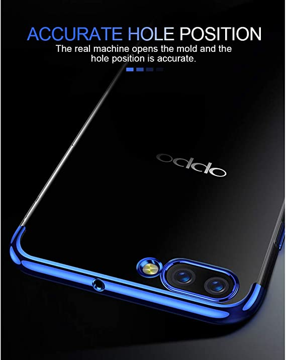 BestCatgift [Crystal Clear A15 Pro Back Cover with [Electroplated Frame] Ultra Slim TPU Gel Soft Funda Compatible para OPPO R15 Pro/R15 Dream Mirror: Amazon.es: Electrónica