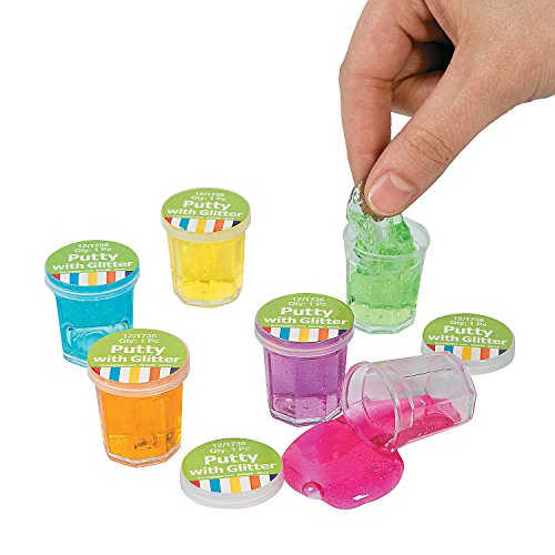 Fun Express Mini Clear Putty with Glitter (4 Dozen) by Fun Express