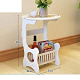 Simple modern bedside table,Simple bed,White mini economic dormitory bedroom bedside cabinet-E