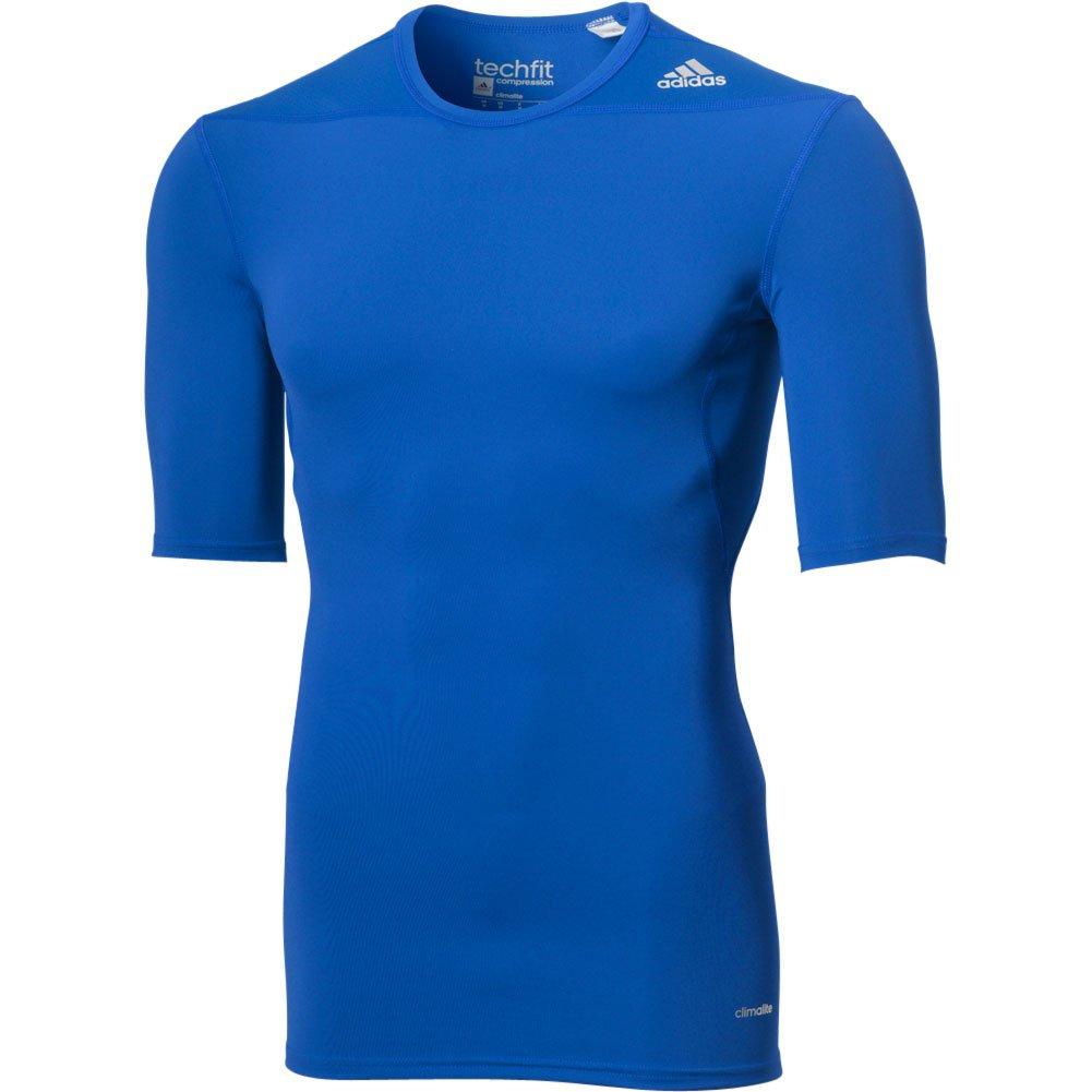 AdidasパフォーマンスメンズAdidasメンズTechfit圧縮ベースレイヤー半袖 B00INOM7SI Large|カレッジロイヤル カレッジロイヤル Large