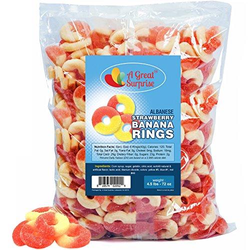Gummy Rings - Strawberry Banana Gummy Rings - Bulk Gummy Rings - Bulk Candy - 4.5 LB