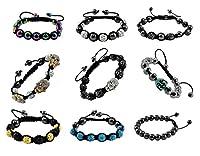 Fashion Pave Shamballa Ball Handmade Drawstring Knot Bracelet