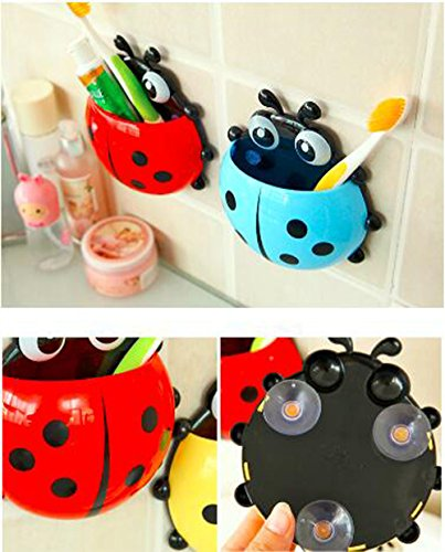 Bestga Cute Cartoon Ladybug Kids Wall Suction Cup Mount T...
