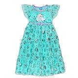 Disney Frozen Elsa Anna Girls' Fantasy Gown Nightgown Pajamas (4T, Blue/Purple)