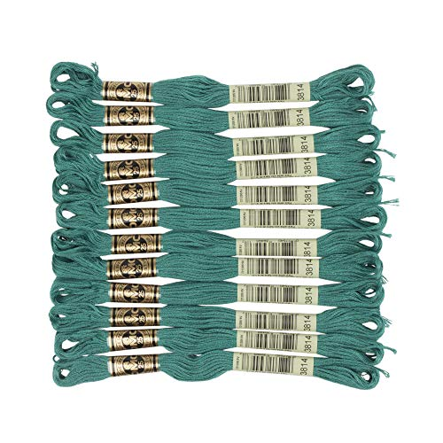 DMC 6-Strand Embroidery Cotton Floss, Dark Aquamarine (Bracelet Aquamarine Strand)