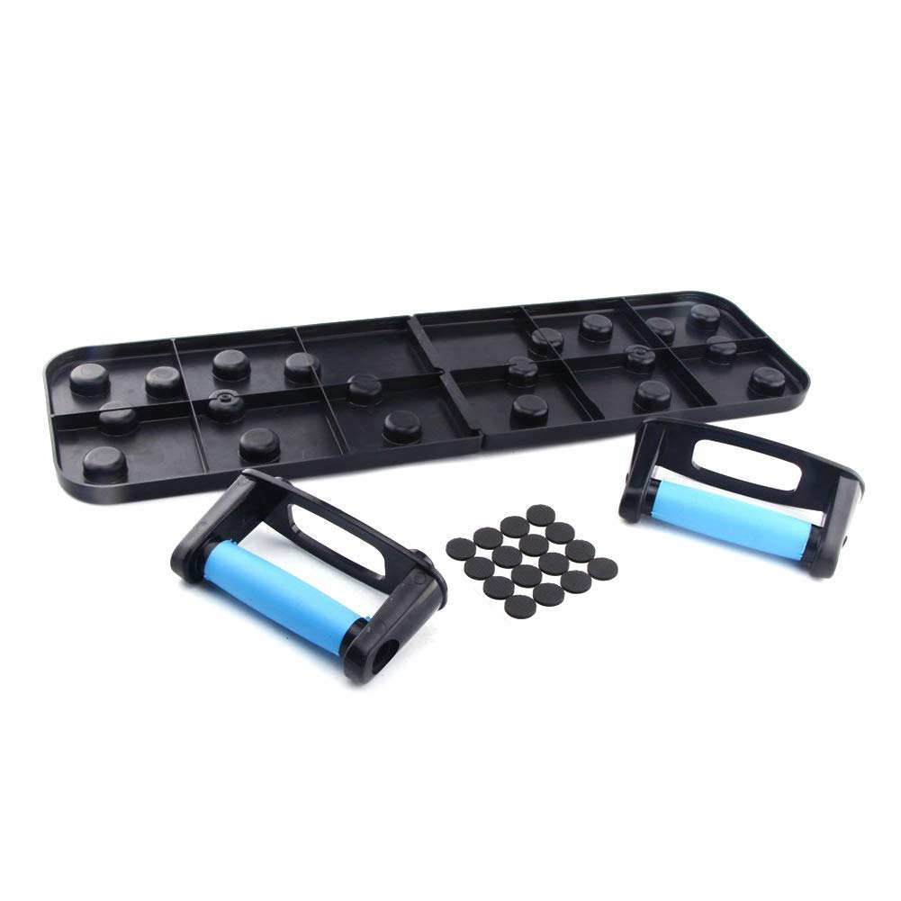 push-ups//handles for chest muscles//shoulder//latissimus//triceps foldable fitness equipment push-ups 9 in 1 Detachable strength training mat GOUPPER Push-ups