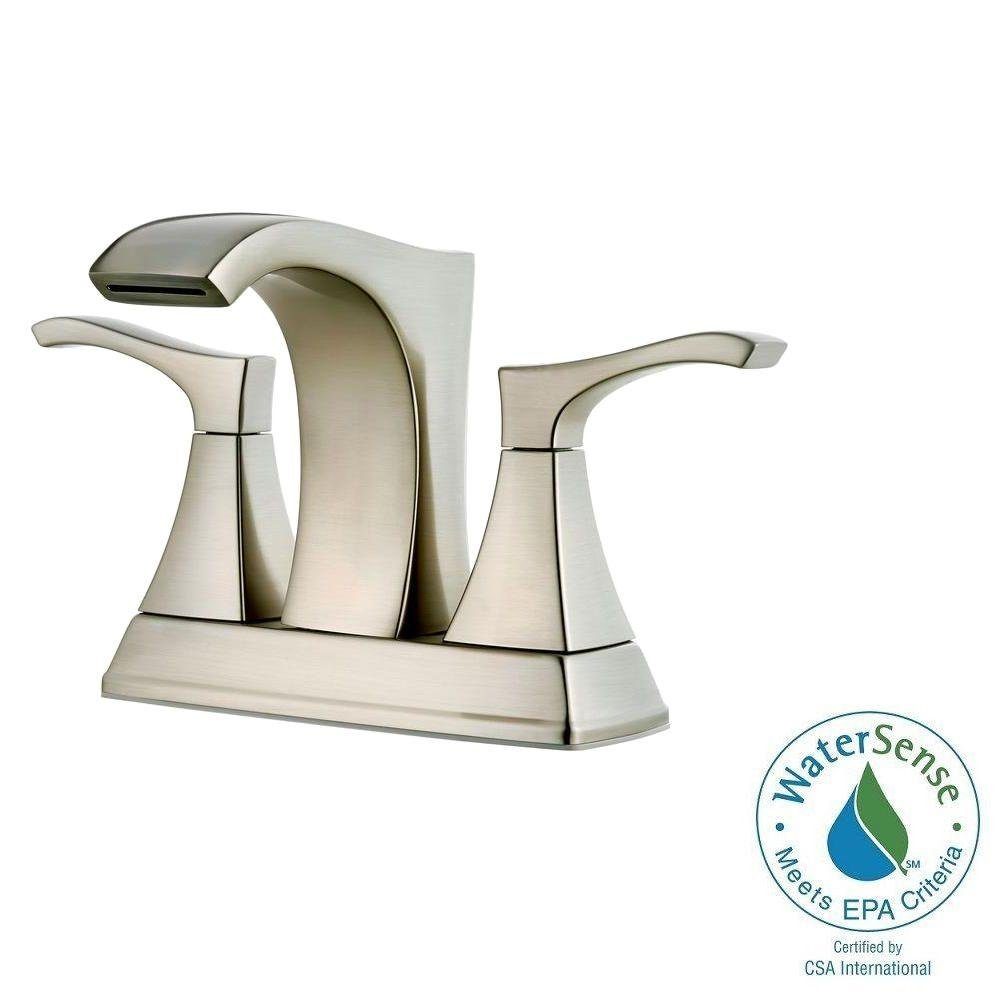 Pfister Venturi In Centerset Handle Bathroom Faucet In Brushed - Bathroom remodel materials list