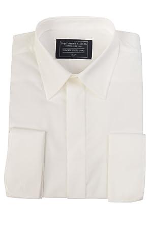 eb5eed676aa2 Richard Paul Mens Ivory Regular Collar Cotton Double Cuff Wedding Dress  Shirt 14.5 15 15.5 16