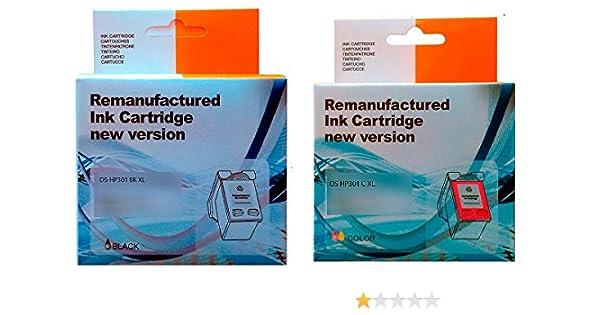 PACK 2 UNIDADES Cartucho Tinta HP 301 Negro XL + Cartucho Tinta HP ...