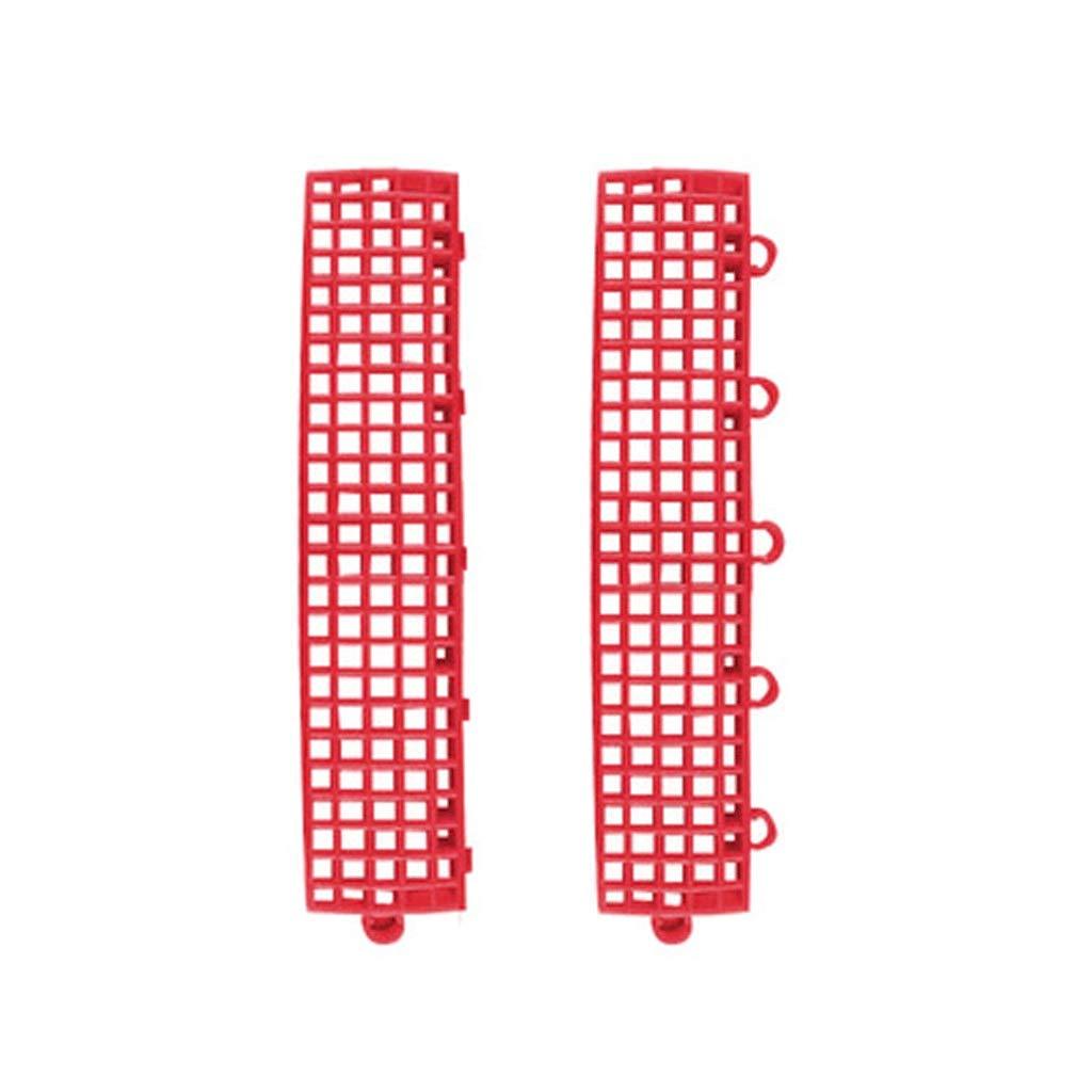 A side strip(A4+B4) Tapis De Jeu De Verrouillage Tapis De Sport En Plastique Tapis De Puzzle Tapis En PVC Convient Aux Balcons De Basket-ball Jardin Campus Piste MultiCouleure Taille (25  25  1.3cm)