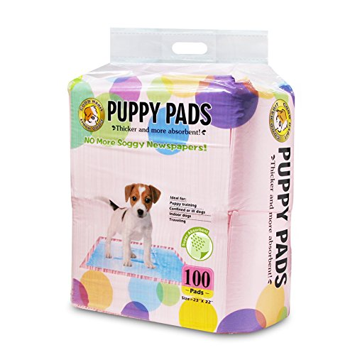 [Best Pet Supplies Puppy/Training Pads, Pink, 100-Pack] (Biodegradable Training Pads)