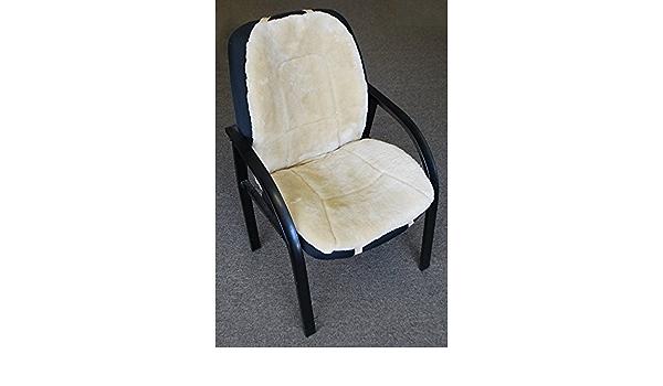 Amazon Com Sheepskin Office Chair Pad Office Chair Pad Tan Kitchen Dining