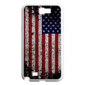 Samsung Galaxy Note 2 N7100 case Of American Retro Flag Customized Bumper Plastic Hard Case
