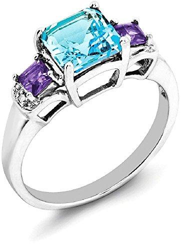 Amethyst And Diamond Ring - 2