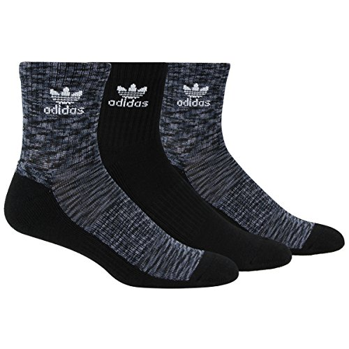 - adidas Men's Originals Cushioned Quarter Socks (3 Pack), Black Space Print/Grey/Onix/White Space, Large