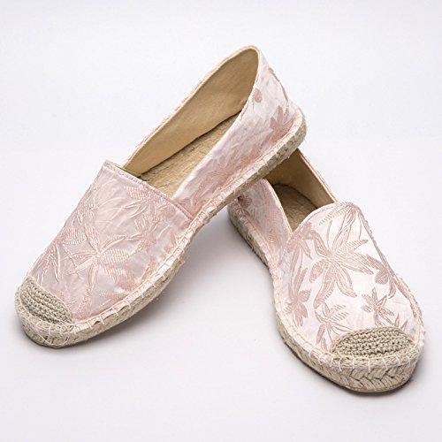 Segeltuchschuhe - Alpargatas de Sintético para Niña, Color Rosa, Talla 43 EU: Amazon.es: Zapatos y complementos