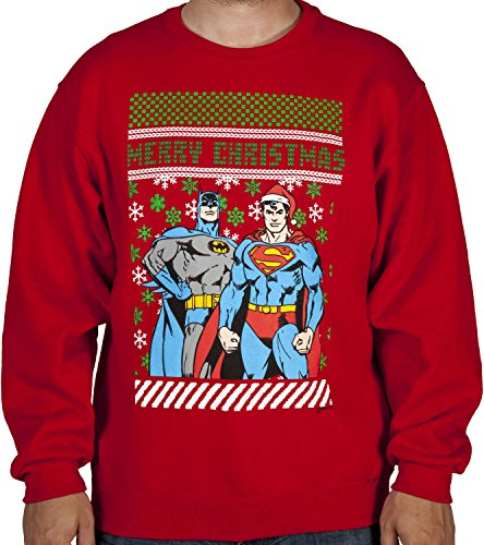 Batman Superman Christmas Sweater