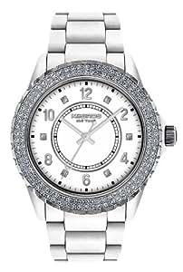 K&BROS Women's 9550-5 Icetime Fashion Three Hands Stones Watch