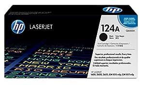 HP 124A - Cartucho de tóner original LaserJet para Laserjet series 1600, 2600, 2605, CM1015mfp y CM1017mfp, color negro