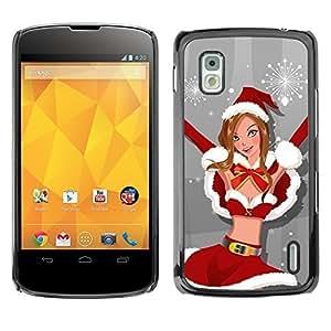 YOYO Slim PC / Aluminium Case Cover Armor Shell Portection //Christmas Holiday Sexy Bikini Girl Woman 1201 //LG Google Nexus 4