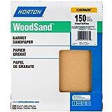 Norton Woodsand Job Pack Abrasive Sheet, Paper Backing, Garnet, Grit 150 (Pack of 25)