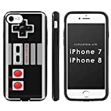 [Mobiflare] Slim Dual Layer Phone Case FITS i-Phone [7] [7S] [8] [Black/Black] Slim Dual Shock Phone Cover – [NES Video Game Controller] For Sale