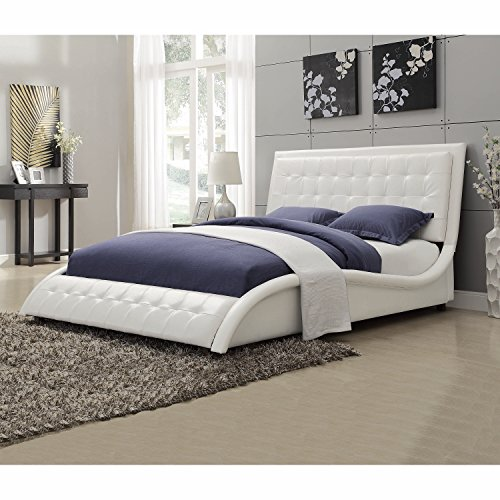 Tully Upholstered Queen Bed White