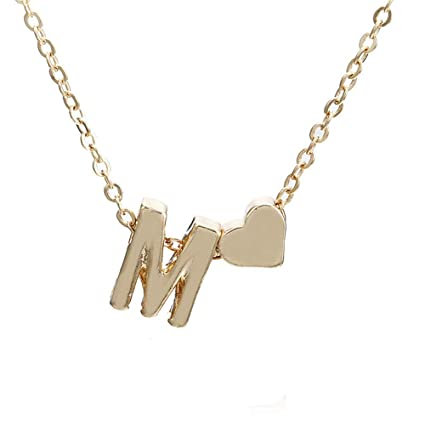 58674c80fc7 Amazon.com  Toponly Women Cute Heart Letter Choker Chain Pendant ...