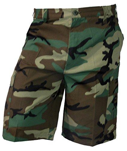 Army Bdu Shorts (Mafoose Tactical Army Military Ripstop BDU Cargo Shorts Woodland)